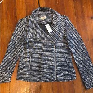 Brand new the Loft navy blue and white blazer